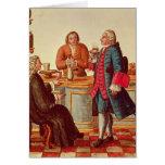 Venetian Noblemen in a Cafe Card