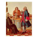 Venetian Noblemen in a Cafe Postcard