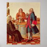 Venetian Noblemen in a Cafe Print