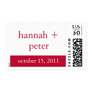 Venetian Red Banner :: Save the Date Stamp