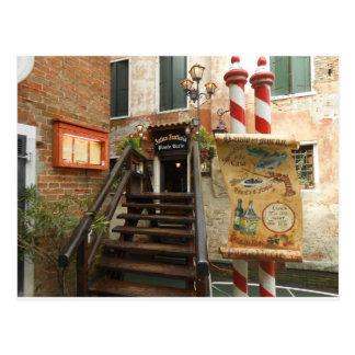 Venetian Restaurant Postcard