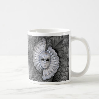 Venetian Silver Mask Basic White Mug