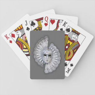 Venetian Silver Mask Playing Cards