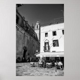 Venetian Street Cafe - Poster