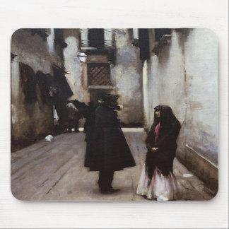 Venetian Street fine art painting John Sargent Mousepads