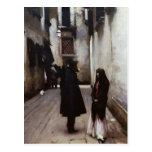 Venetian Street fine art painting John Sargent Postcard
