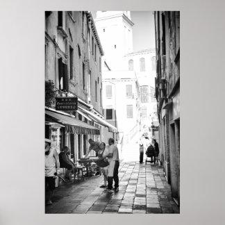 Venetian Street Scene - Poster