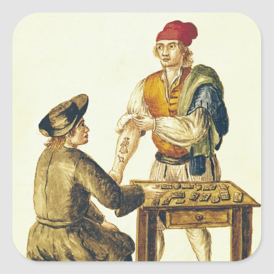 Venetian Tattooer Square Sticker