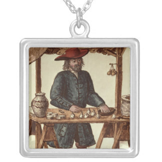Venetian Tobacco Vendor Silver Plated Necklace