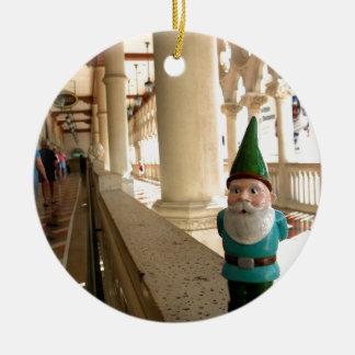 Venetian Walk Double-Sided Ceramic Round Christmas Ornament