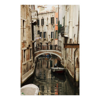 Venetian's canal printed on canvas poster