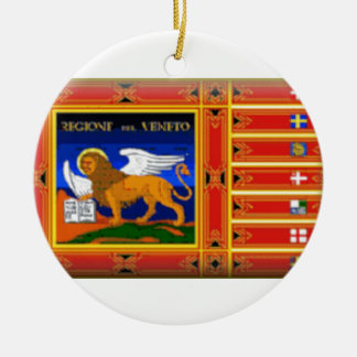 Veneto (Italy) Flag Ceramic Ornament