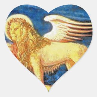 Veneto (Italy) Flag Heart Sticker