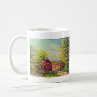 Veneux-Nadon in the spring by Alfred Sisley Mugs