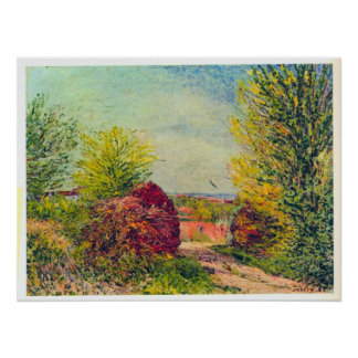 Veneux-Nadon in the spring by Alfred Sisley Print