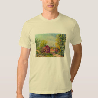 Veneux-Nadon in the spring by Alfred Sisley Tshirts