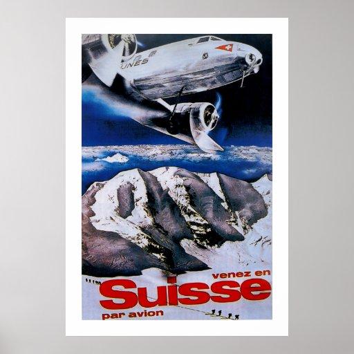 Venez En Suisse ~ Come to Switzerland Poster