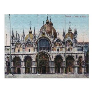Venezia Chiesa San Marco Vintage Postcard