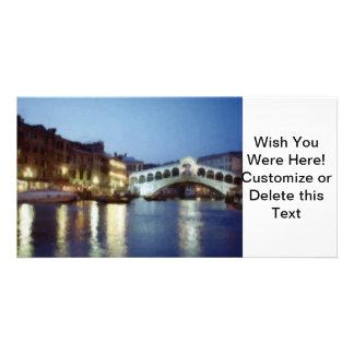 Venezia Di Notte (Venecia en la noche) Tarjeta Fotográfica Personalizada