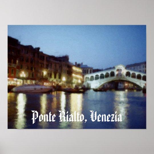 Venezia Di Notte (Venice at Night) Poster