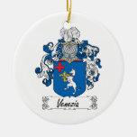 Venezia Family Crest Double-Sided Ceramic Round Christmas Ornament