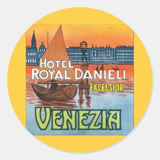 Venezia Hotel Royal Danieli Classic Round Sticker