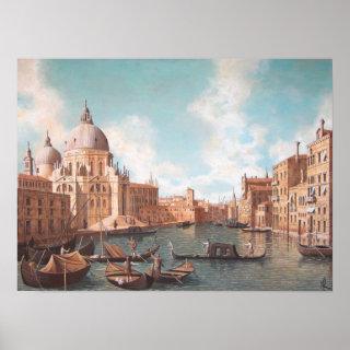 Venezia - Il Canal Grande e la Salute Poster