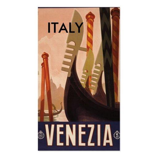 Venezia Italia, ITALIA Plantilla De Tarjeta De Visita