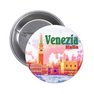 Venezia, Italia Pin Redondo De 2 Pulgadas