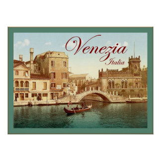Venezia ~ Italia ~ Vintage Travel Poster