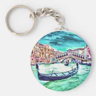 Venezia, Italy Basic Round Button Keychain