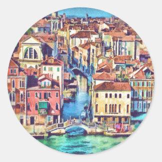 Venezia, Italy Round Stickers
