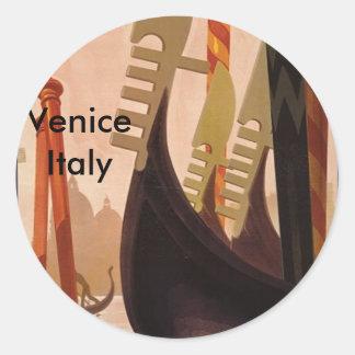 Venezia Italy, Venice Italy Round Sticker