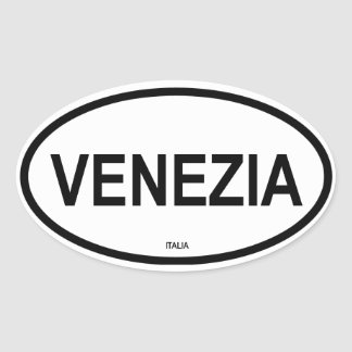 VENEZIA OVAL STICKER