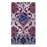 VENEZIA POINSETTIA in Plum and Purple Business Cards