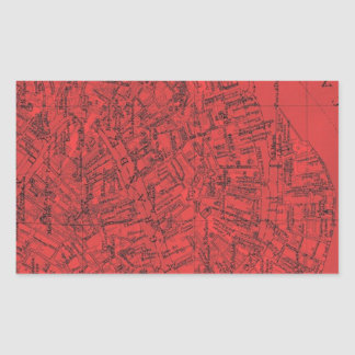 Venezia Rojo Rectangular Sticker