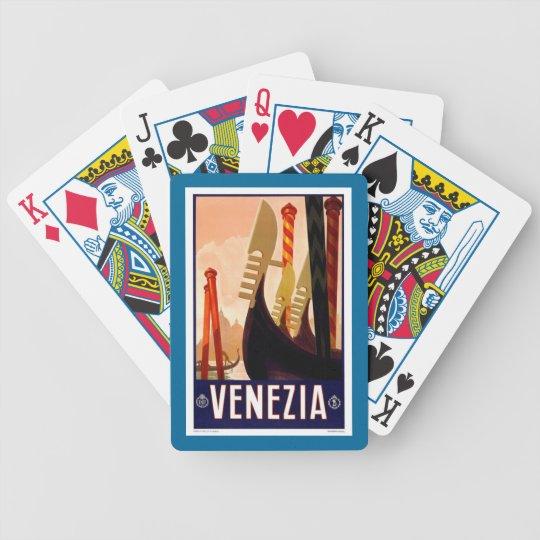 Venezia Venice Italy Vintage Travel Playing Cards