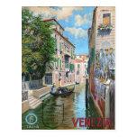 Venezia Venice Italy, Vintage Travel Poster Postcard