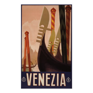 Venezia (Venice) vintage travel poster