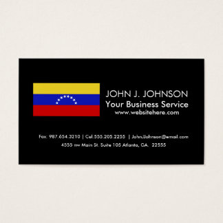 Venezuala Flag Business Card