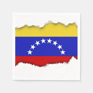 Venezuala Flag Paper Napkin
