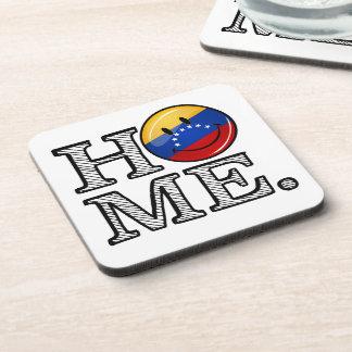 Venezuala Flag Smiley Housewarming Coaster