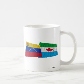 Venezuela and Dependencias Federales Waving Flags Coffee Mug