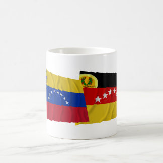 Venezuela and Miranda Waving Flags Coffee Mug