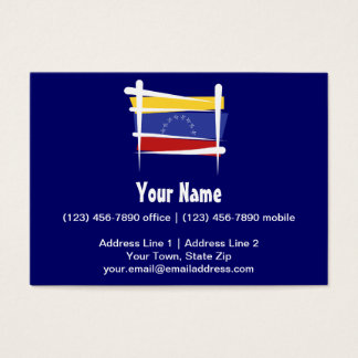 Venezuela Brush Flag Business Card