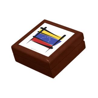 Venezuela Brush Flag Keepsake Box
