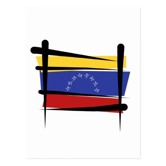 Venezuela Brush Flag Postcard