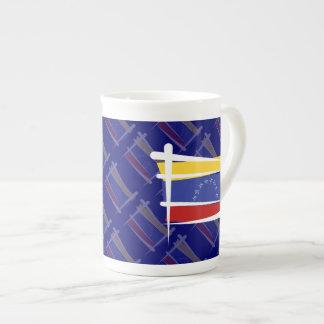 Venezuela Brush Flag Tea Cup