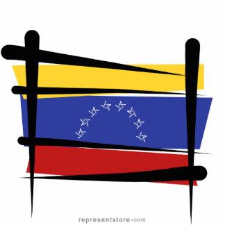 Venezuela Brush Flag Statuette