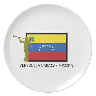 VENEZUELA CARACAS LDS CTR MISSION PARTY PLATES